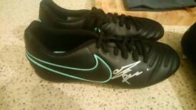 Stuart Pearce Signed Nike Football boots.
