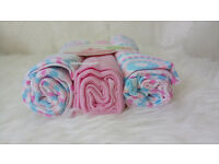 PINK 80*80cm set 3 Newborn Cotton Diapers Toddler Baby Care White Nappy Baby 100%cotton