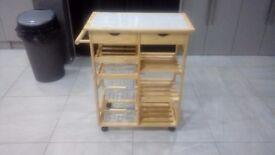 Kitchen trolley wood like new