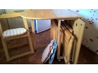 Pine Compact Extending Dining Set