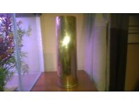 upcycling project /old army shell casing/ideal umbrella/stick stand