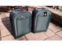 Two Green 109L 4 Wheel cases