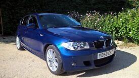 BMW 120d M Sport, 177 bhp, Metallic Blue, Manual, 5 door hatch, long MOT
