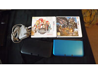 Nintendo 3DS XL (Blue/black) + Monster Hunter 4 Ultimate & Tales of the Abyss