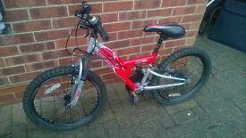 "Apollo kids bicycle, 20"" wheel, 6 Shimano gear"
