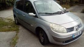 2005 RENAULT GRAND SCENIC 1.5DCI DYNAMIQUE 7 SEATS * runs and drive * spares or repair *ONO*