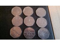 Lost of 50p some rare coin in the bag