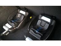 cabrio car seat with 2 maxi cosi bases (1 isofix, 1 easybase) with quinny pushchair/stroller