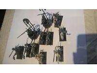 WARHAMMER AOS / FANTASY UNDEAD SKELETON CHARIOTS X 2 & 5 X SKELETON CAVALRY PLASTIC
