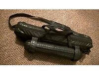 Flute & Piccolo Dual Carrying Case - Black Faux Leather