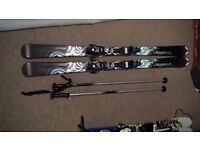 Ladies Wed'ze Ladybelle Skis 161cm with poles