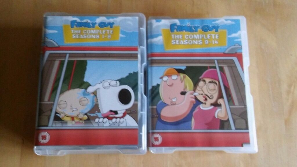 Family guy seasons 1 14 DVD collection setin Ilkley, West YorkshireGumtree - Family guy seasons 1 14 DVD collection set, all in great condition hardly used