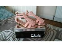 Brand new womens pink sandals size 4