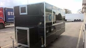 "19'6"" x 7' CUSTOM BUILT CATERING TRAILER,TWIN AXLE, 1 YEAR OLD, READY TO WORK"