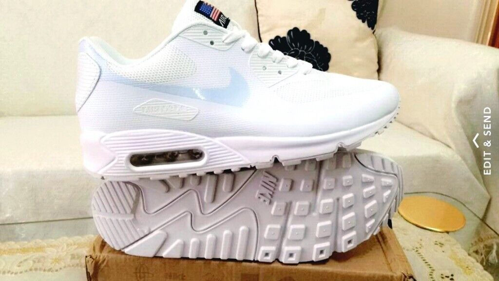 outlet store 296b6 c0603 nike air max 90 hyperfuse white independance day all sizes inc delivery  paypal x yeezy 90
