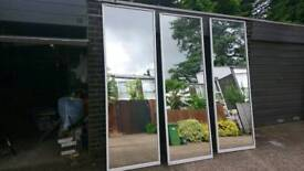 Sliding wardrobe door with mirror