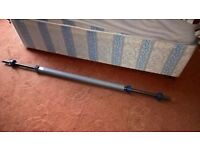 5ft Standard Barbell With Safety Collars & Squat Sleeve