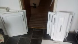 White Gloss Kitchen Unit Doors and Handles included - For Sale - Good condition - £200 ono