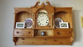 wall unit with clock