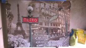 paris scene canvas/picture