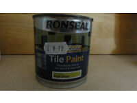 Ronseal tile paint colour lime green 250ml