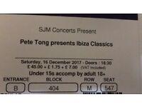 3 x Tickets for Pete Tong presents Ibiza Classics, O2 London, Sat 16th Dec - £30 each