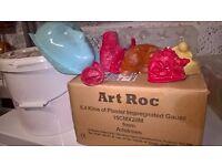 Art Roc, Plaster of Paris, rubber molds