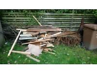 Bonfire or log burner wood