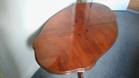 Mahogany Oval Inlaid Coffee Table (VERY GOOD CONDITION)