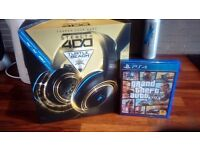 Turtle beach stealth 400 headset & grand theft auto 5 for playstation 4 for sale £45
