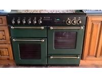 Rangemaster 110 double oven - gas 4 rings griddle and electric warmer grill and storage drawer