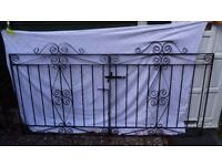 Set of Solid Heavy Iron Double gates