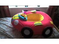 vibrating baby bouncer, red karibu seat with tray, inflatable 'sit-me-up' car