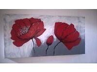 Red Poppy Canvas - 120 x 60cm