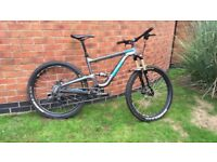 Gt verb comp highly upgraded full suspension mountain bike