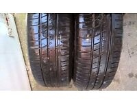 Alloy wheels x4, 2 with tyres Avon ZT5, Good Condition, including centre caps. Peugeot 406