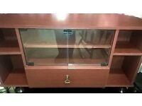 tv cabinet / unit glass doors, drawer and shelfs