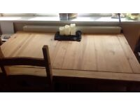 Corona style table and 4 chairs