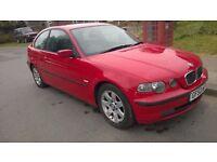 2002 BMW 316 COMPACT 1.8 PETROL MANUAL NEW MOT