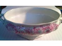 antique china serving bowl