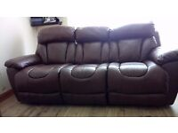3 seat and 2 seat sofas with electric reclining.