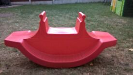 Flexible Flyer children's red plastic see saw