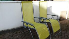 2 x Lafuma recliners