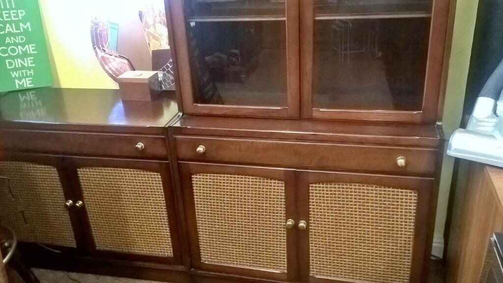 solid wood old charm solid wood display unit and sideboard set delivery available