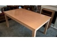 Free solid wood 6 seater dining table
