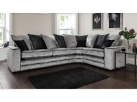 Quality Riva crushed velvet brand new corner sofa**Free delivery**