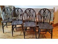 Set of 4 Vintage Wheelback/Stickback chairs
