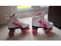 Roller Boots SFR Rio Quad Skates, Size UK 3 White/Pink £25