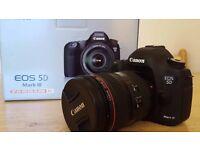 Canon EOS 5D Mark III 22.3MP Digital SLR Camera Body + EF 24-105 F/4L IS USM Len