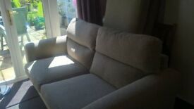 three and two seater sofa and storage stool